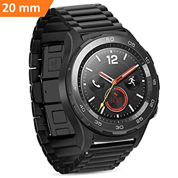 iBazal Huawei Watch 2 Correa Acero 20mm, Huawei Watch 2 Reloj Banda Pulsera Metal para