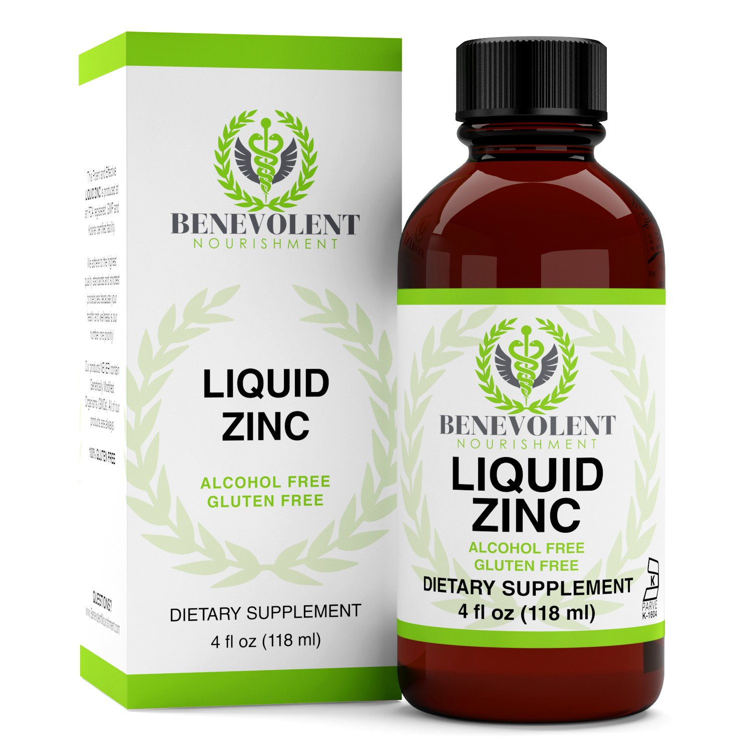 Zinc Supplement with Organic Elderberry Fruit & Herbs - Potent & Effective Liquid Dietary Supplement for Entire Family - 100% Alcohol & Gluten Free - Non GMO Formula. Large 4oz Bottle.