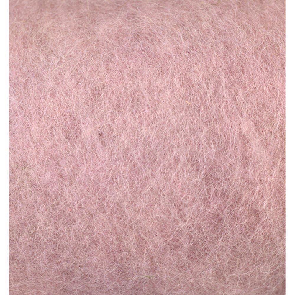 Efco 50 g Wool for Felting, Powder Pink