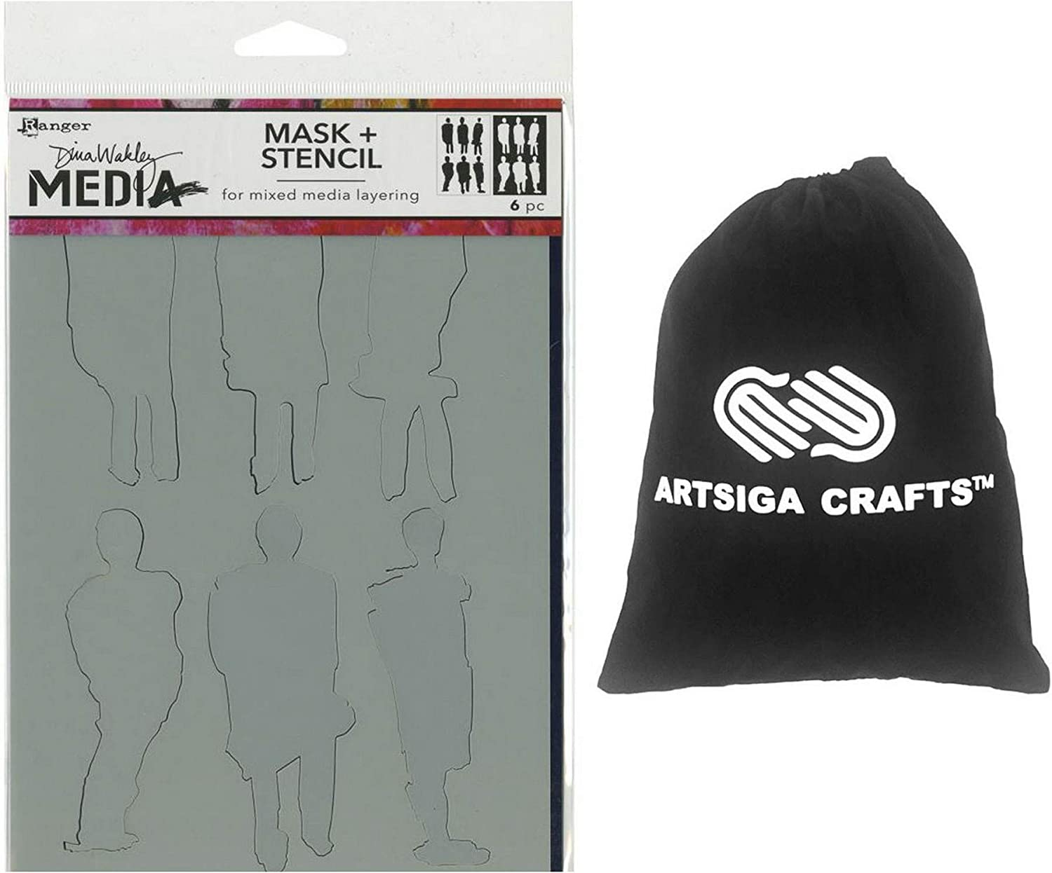 6 by 9-Inch Ranger Dina Wakley Media Stencils You Can