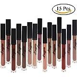 Spdoo 15 Nude Colors Long Lasting Liquid Lipstick Matte Lip Gloss Set