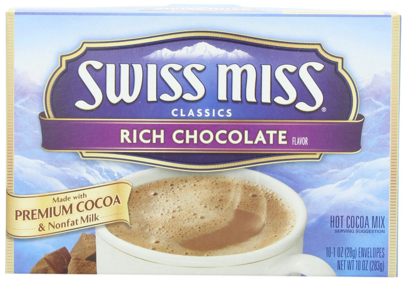 Swiss Miss Classics Rich Chocolate Hot Cocoa Mix, 10 Count 10 oz 12-Pack