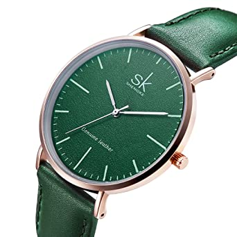 Women Leather Band Watches Retro Casual Round Dial Quartz Analog Wrist Watch Reloj De Mujer (