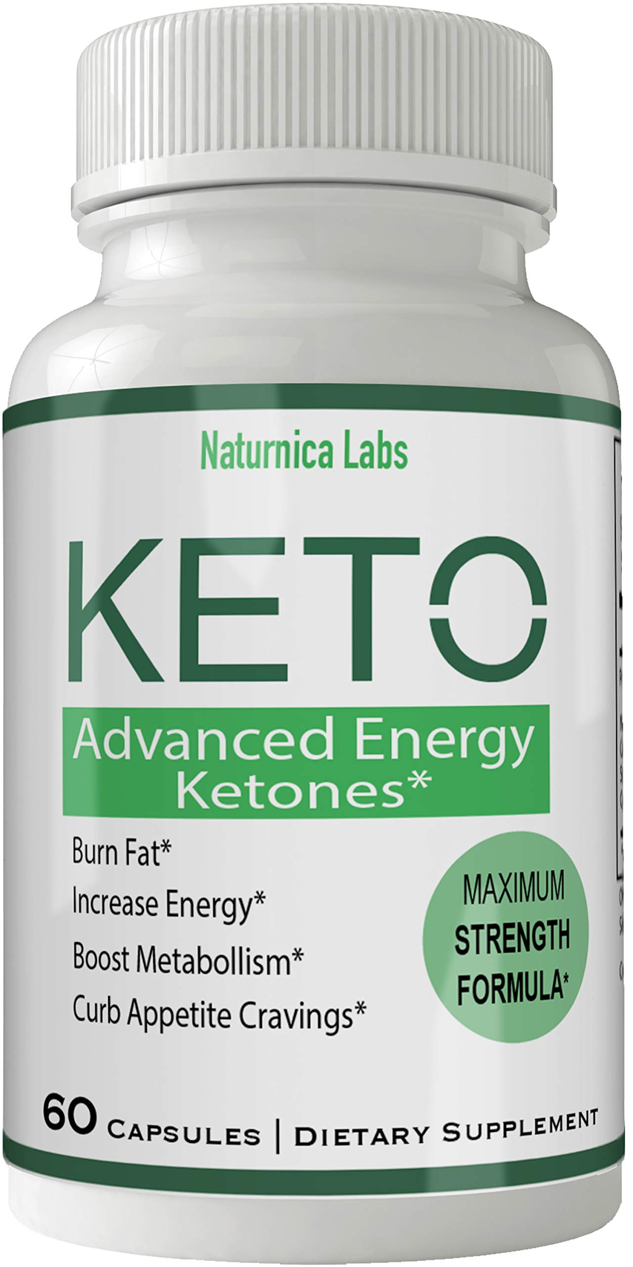 Naturnica Keto Diet Pills Advance Weight Loss Supplement Appetite Suppressant Natural Ketogenic 800 mg Formula with BHB Salts Ketone Diet Capsules to Boost Metabolism, Energy and Focus