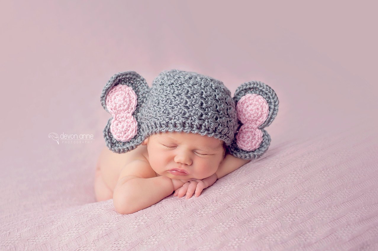 Baby Elephant Crochet Hat   AllFreeCrochet.com   850x1277