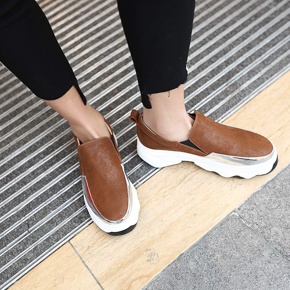 Women's Fashion Sneakers Casual Slip On Loafers Non-Slip Thick B07GFF3D3G Bottom Wedges Soft Walking Shoes B07GFF3D3G Thick Wedge 625aaa