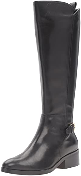 Cole Haan Women's Hayes Tall Riding Boot, Black Leather, ...