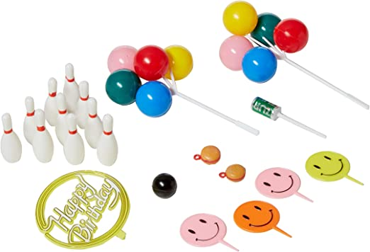 Cool Oasis Supply Bowling Birthday Strike Party Cake Topper Kit Amazon Personalised Birthday Cards Paralily Jamesorg