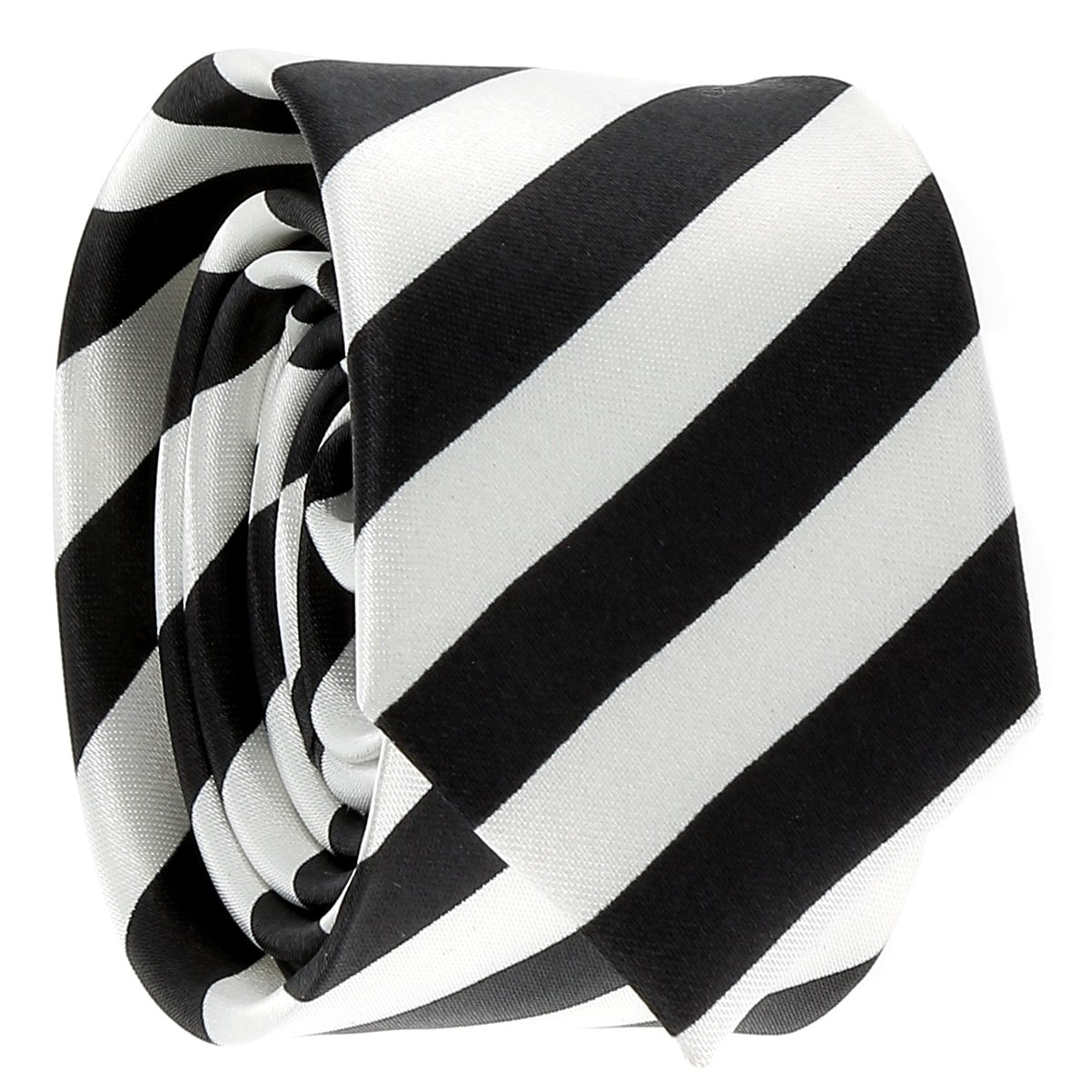 cravateSlim Corbata Estrecha de Rayas Blanca y Negra: Amazon.es ...