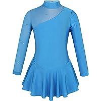 MSemis Vestido de Patinaje Artistico para Niñas Maillot Tutú Princesa de Danza Ballet Leotardo Gimnasia Ritmica con…