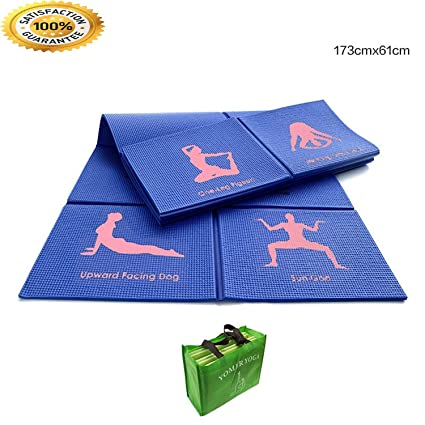 Amazon.com : FIRE ANT Yoga Mat 8mm Yoga Pads Fitness Mat PVC ...