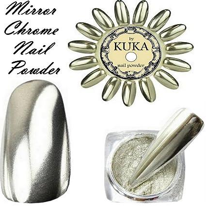 Pigmento en polvo plateado para uñas cromado y espejado, efecto de brillo en