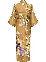 Swhiteme Women's Kimono Robe, Long