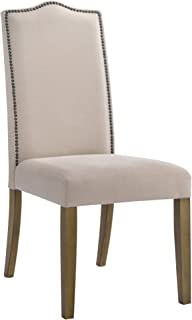 product image for Carolina Chair & Table Romero Parson Dining Chair, Harvest Oak/Linen