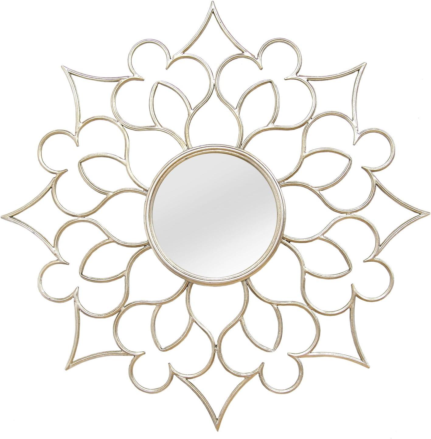 Stratton Home Decor SHD0145 Francesca Wall Mirror, 24.00 W X 1.75 D X 24.00 H, Silver