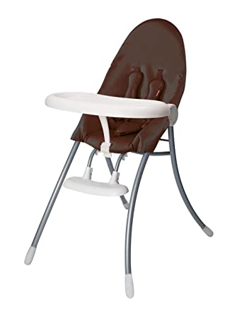 Bloom Nano Urban High Chair, White Frame With Seat Pad Henna Brown