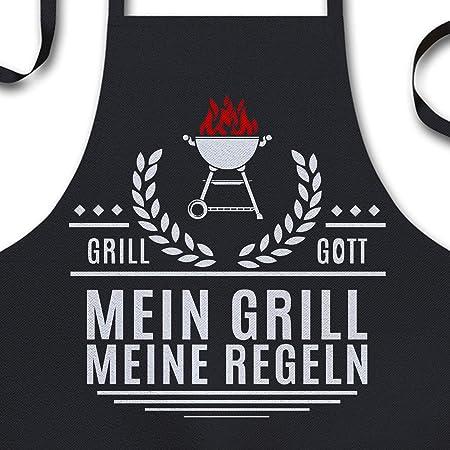 schwarz + Soreso Design Grillsch/ürze f/ür M/änner lustig Urkunde f/ür den Chef-de-Grill Geschenk Geburtstag Grillzubeh/ör Farbe Grillk/önig