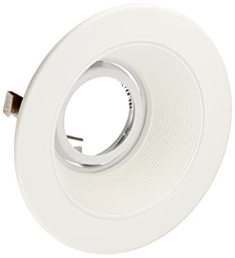 elco lighting el1493w 4 low voltage adjustable step baffle trim