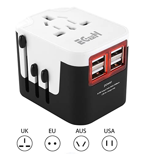 Review Travel Adapter, Egeen Worldwide