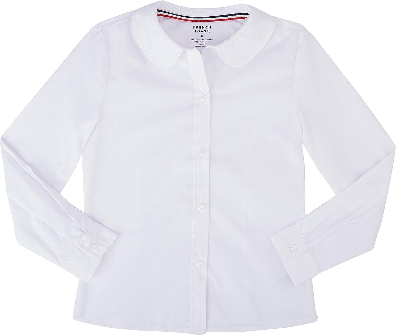 French Toast School Uniform Girls Long Sleeve Modern Peter Pan Blouse: Clothing