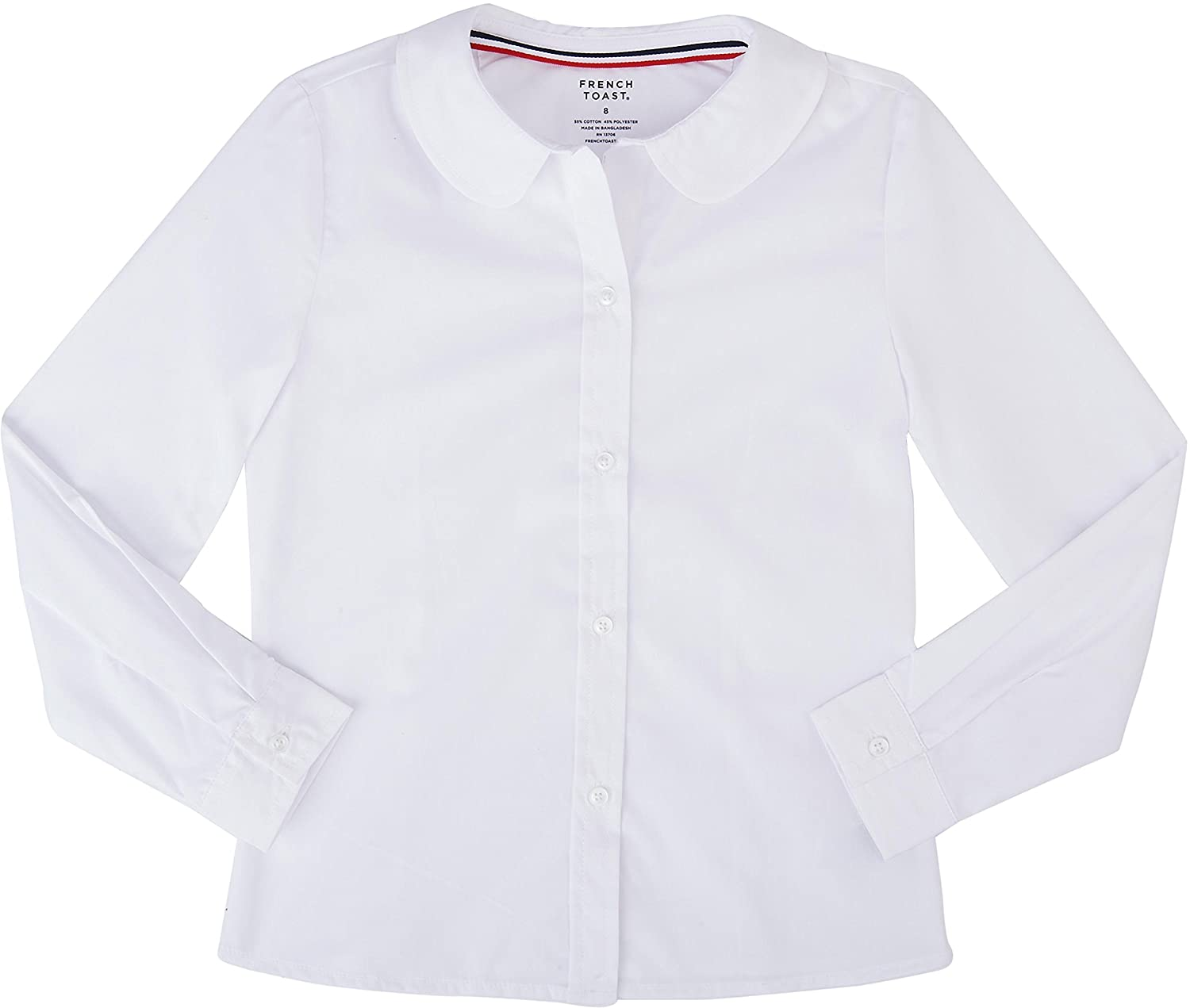 French Toast School Uniform Girls Long Sleeve Modern Peter Pan Blouse