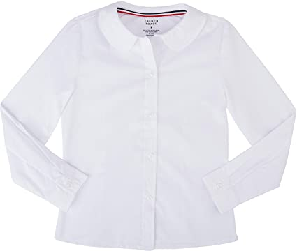 3acd79a3a0ed49 French Toast School Uniform Girls Long Sleeve Modern Peter Pan Blouse,  White, 2T