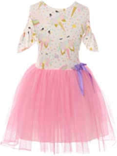 bf4c81bdb7 Little Girls Lovely Unicorn Cold Shoulder Tulle Birthday Party Flower Girl  Dress