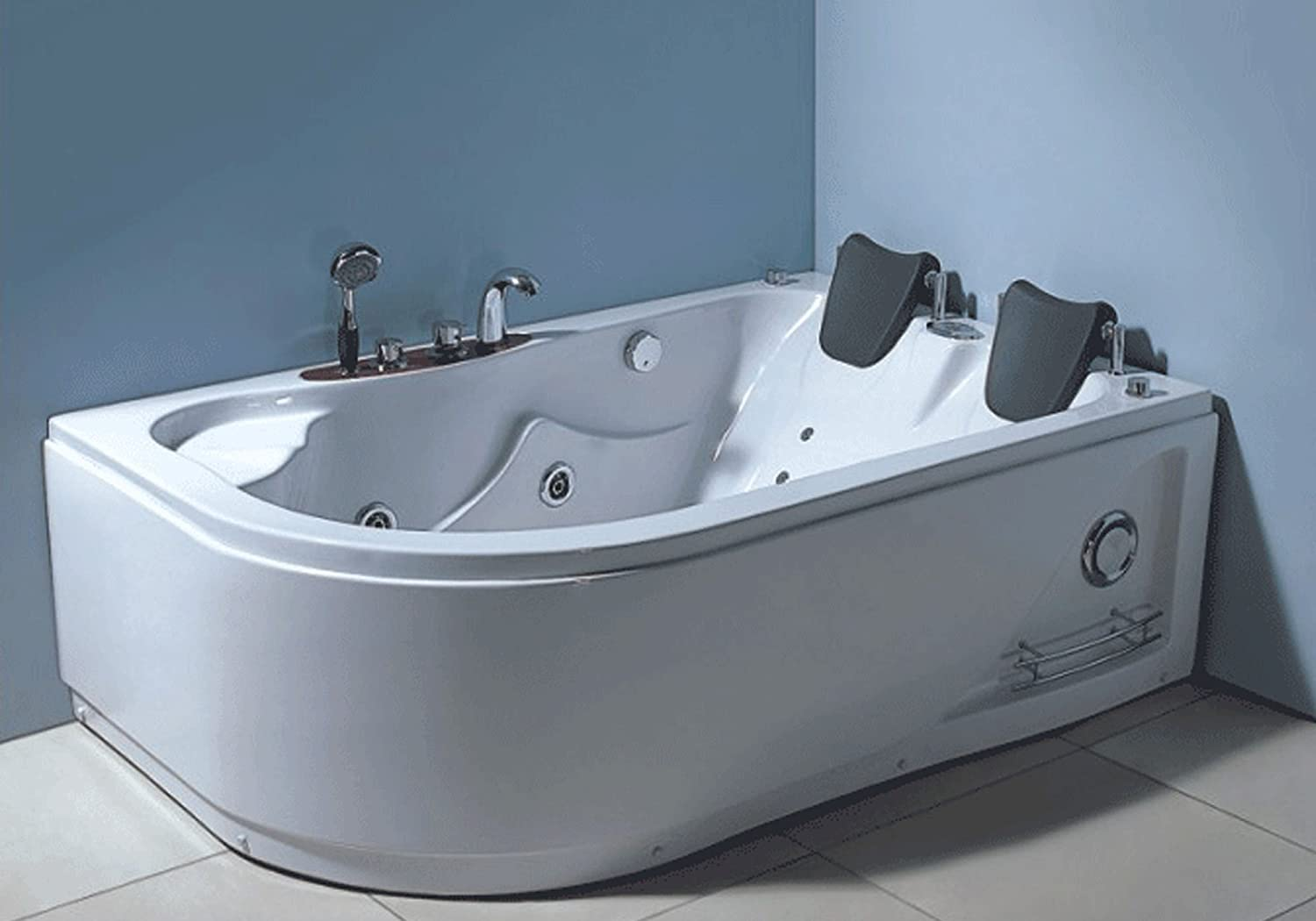 WHIRLPOOL JACUZZI SPA CORNER BATH Varadero 170 x 115 cm HOT TUB ...