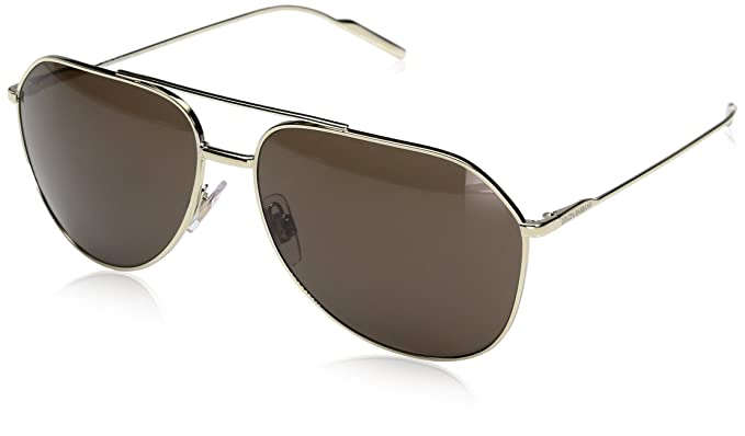 3b11cd2bde98 Dolce & Gabbana Men's 0DG2166 488/73 61 Sunglasses, Pale Gold/Brown,: Dolce  & Gabbana: Amazon.co.uk: Clothing