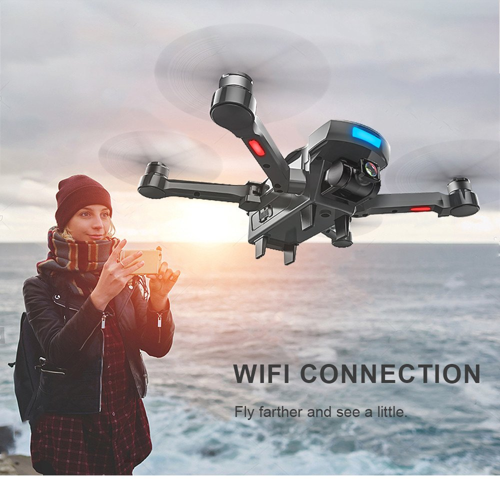 Choosebuy GPS Folding RC Drone with HD Electric Camera, FPV 2.4G/Altitude Hold/WiFi Control/Foldable Quadcopter/Outdoor Toy Gift for Beginners for Adults (B) by Choosebuy (Image #5)