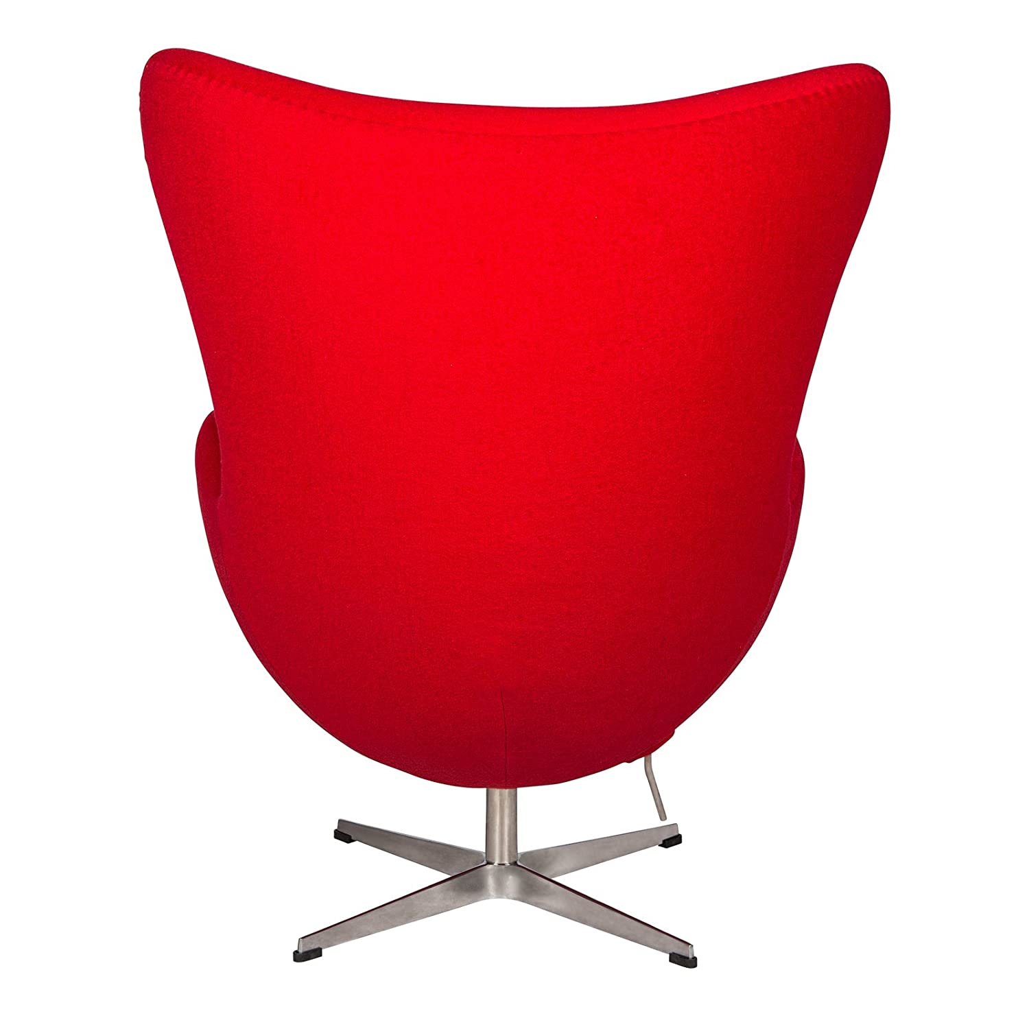 Merveilleux Amazon.com: LeisureMod Modena Mid Century Fabric Accent Egg Chair With  Tilt Lock Mechanism In Red Wool: Kitchen U0026 Dining