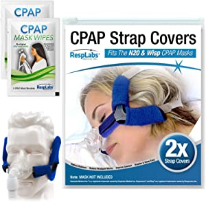 RespLabs CPAP Headgear Covers, Compatible with Respironics Wisp — Fleece Comfort Wraps | Soft Cushion [2 Pack]