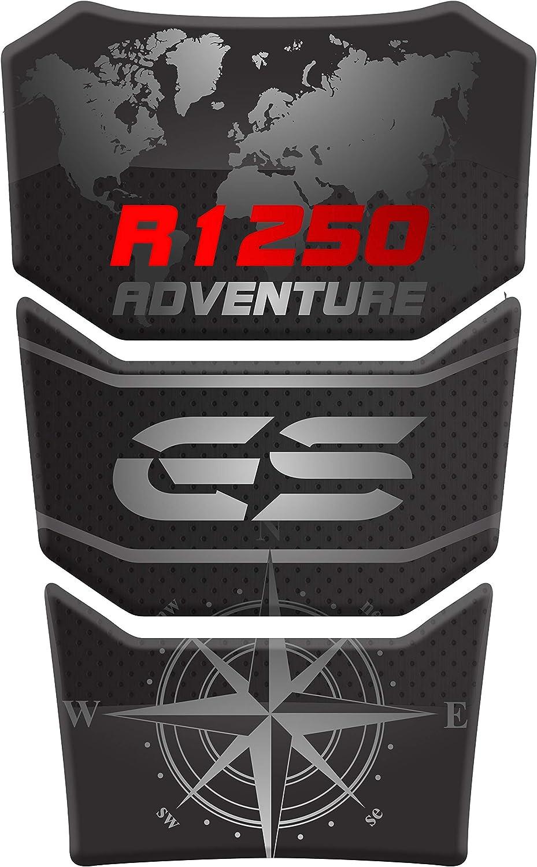 RESINATO EFFETTO 3D compatibile con BMW R1250 GS ADV Adventure PARASERBATOIO ADESIVO Blue R 1250