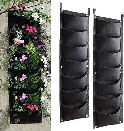 DC CLOUD Jardin Vertical Pared Maceta Pared Bolsas de jardín para Plantas Pared de jardín Macetas Jardinera Colgante de Pared Jardineras de Pared 2pcs: Amazon.es: Hogar