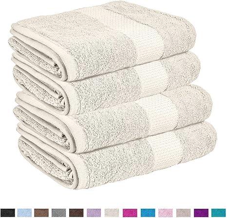 Lions Toallas de baño Miami, Toalla de Mano Gigante, 100% algodón, con Agua borbada, gsm 700, Crema, 4X Hand Towel: Amazon.es: Hogar