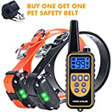 HISEASUN Remote Dog Training Collar, Rechargeable with Beep, Vibration and Shock Electronic Collar, 1000ft Range