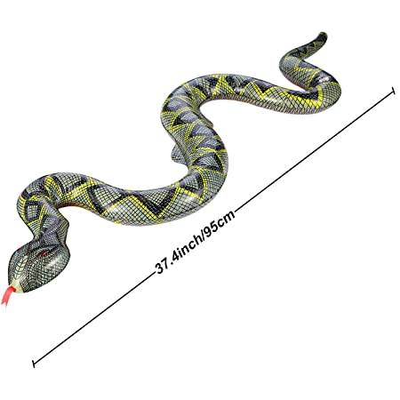 UCLEVER Serpientes Inflable Juguete de jardín en Forma de ...