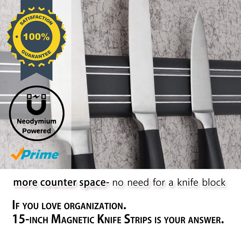 Amazon.com: Tiras magnéticas para cuchillos, 15 pulgadas ...