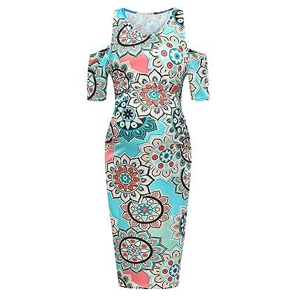 b297017f872 Amazon.com: ❤ Mealeaf ❤ Women's Floral O-Neck Short-Sleeved ...