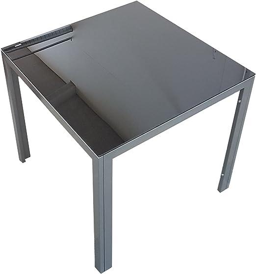Mesa de jardín Balcón Mesa Mesa comedor aluminio mesa de cristal ...