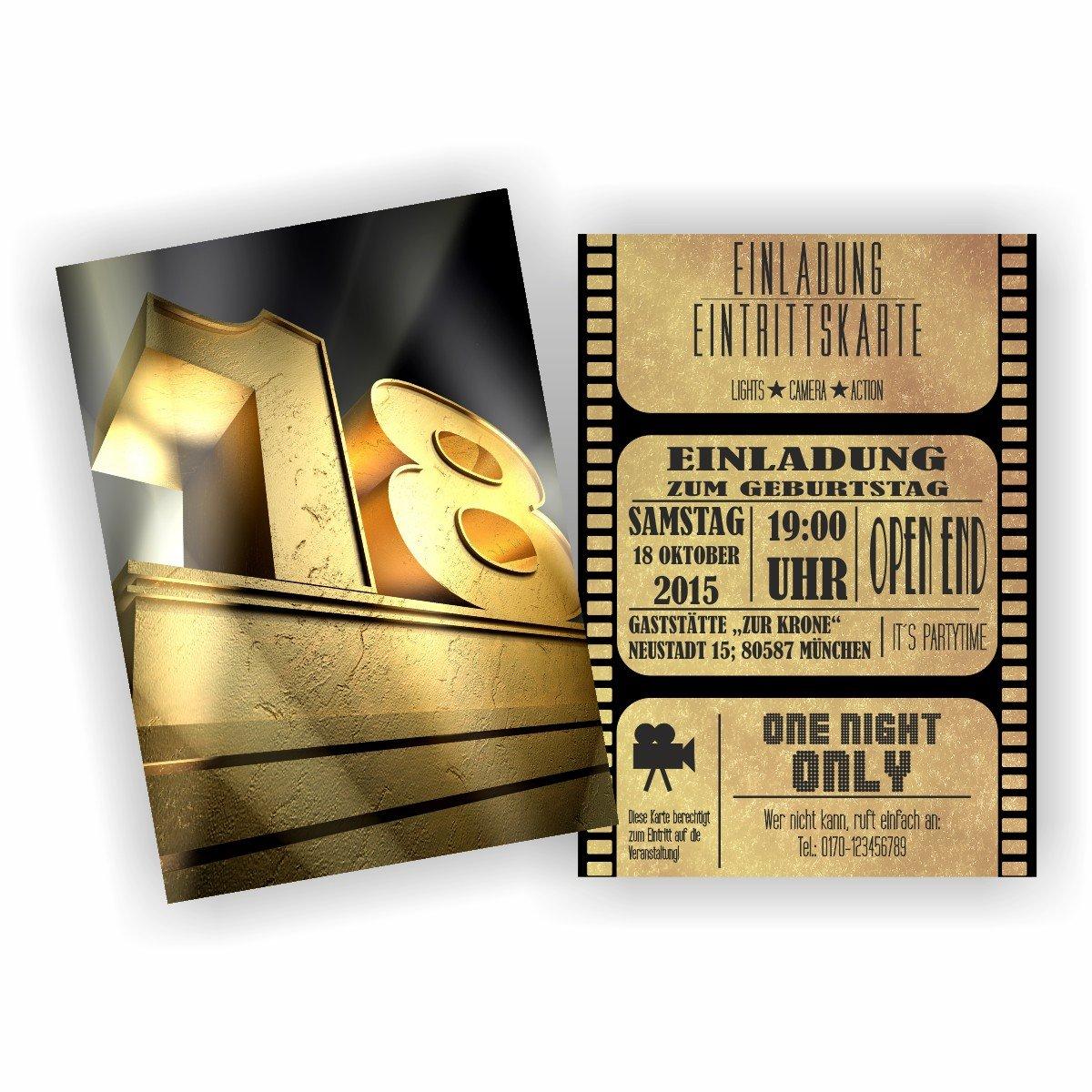 Einladung BLOCKBUSTER I KINO FILM THEATER zum 18. Geburtstag (50 Stück) B076M15891 | New Products  | Sehr gute Farbe  | Ideales Geschenk für alle Gelegenheiten