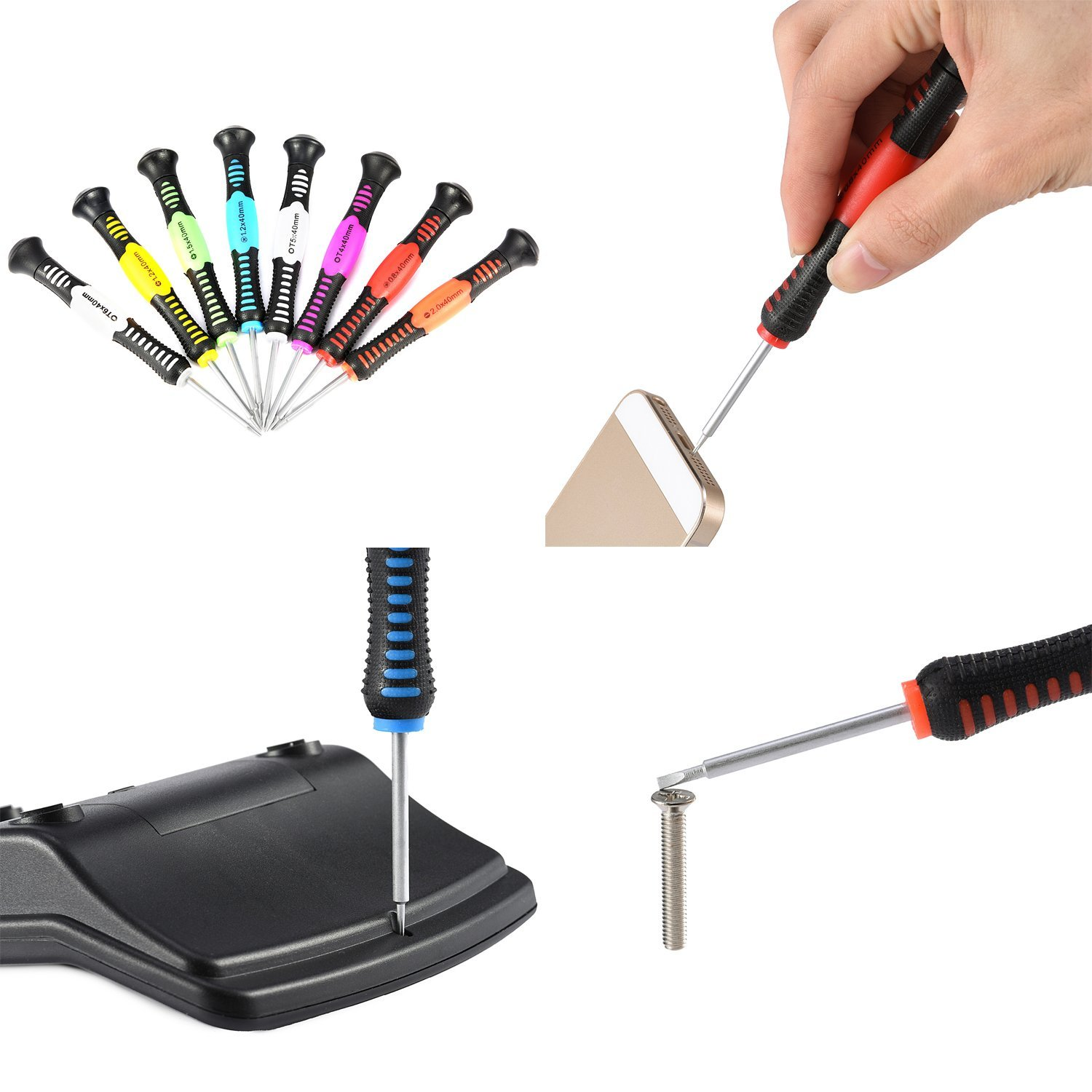 16 in 1 Precision Screwdriver Set,JACKYLED Repair Tool Kit for iPad iPhone /& Other Devices JACKY LED JK129-16in1TK