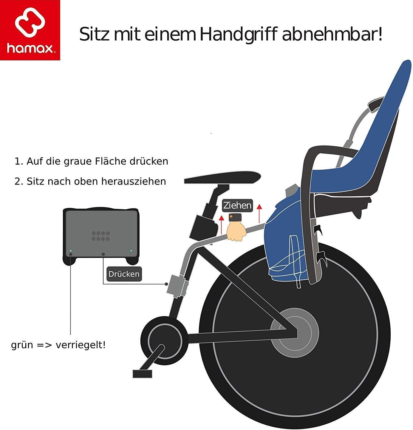 Hamax bike seats for children accessories Child seat holder Sleepy and Kiss