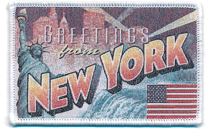 72 X 45 Mm New York Retro Nostalgie Patch Usa Edel Aufnäher Aufbügler 0751 A Auto