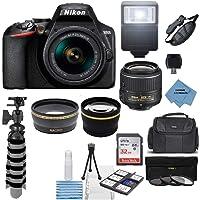 Nikon D3500 24.2MP DSLR Camera + AF-P DX 18-55mm VR NIKKOR Lens Kit + Accessory Bundle + Extreme Electronics Cloth