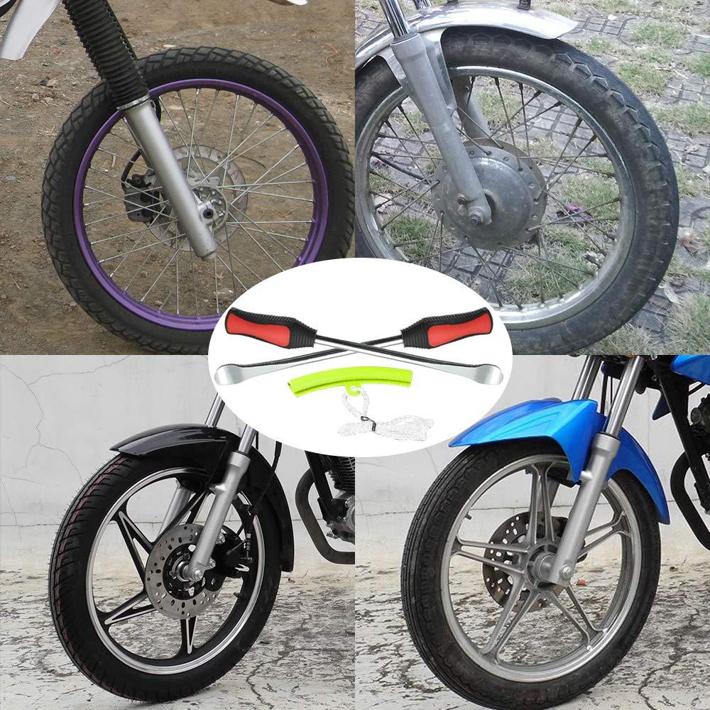 VTT KEBY Lot de 3 leviers de pneus avec Outils pour Levier de Pneu pour Moto Voiture