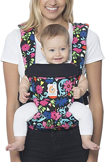 Ergobaby Carrier, Omni 360 All Carry Positions Baby Carrier, French Bull - Flores