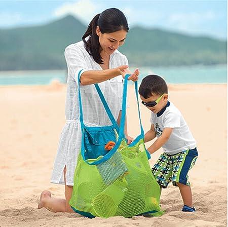 WHX bolsa de almacenamiento de malla bolsa de playa gran juguete ...
