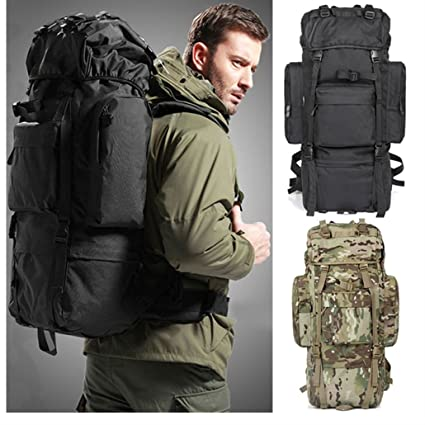 87e2f00116 80L Outdoor Travel Hiking Camping Luggage Backpack Rucksack Bag Day Packs  Hot (Green)