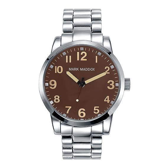 Mark Maddox HM3003 - 44 Reloj de Hombre Metal Plata marrón: Amazon.es: Relojes
